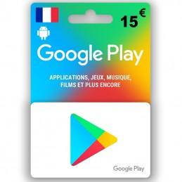 Google Play 15 Euro (Fr)...