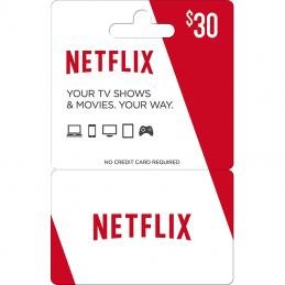 Netflix Gift Card 30 dollar