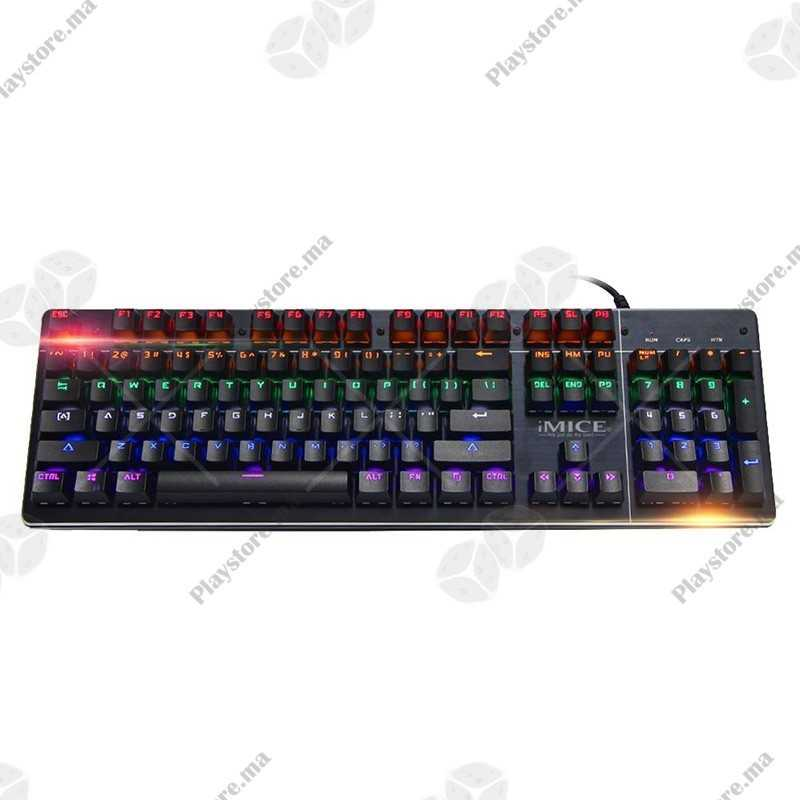 IMICE MKX80 USB Wired Sans contre-feu Backlight Clavier mécanique