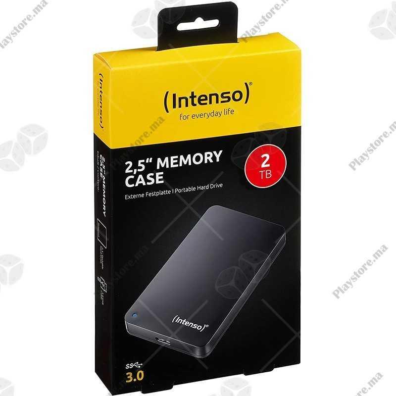 "Disque dur externe 2,5"" Intenso Memory Case 2 TB USB 3.2"