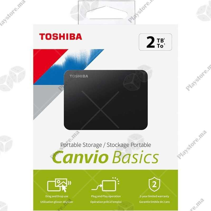 "Toshiba Disque Dur Externe Portable 2,5"" 2TB USB 3.0 Haute Vitesse"